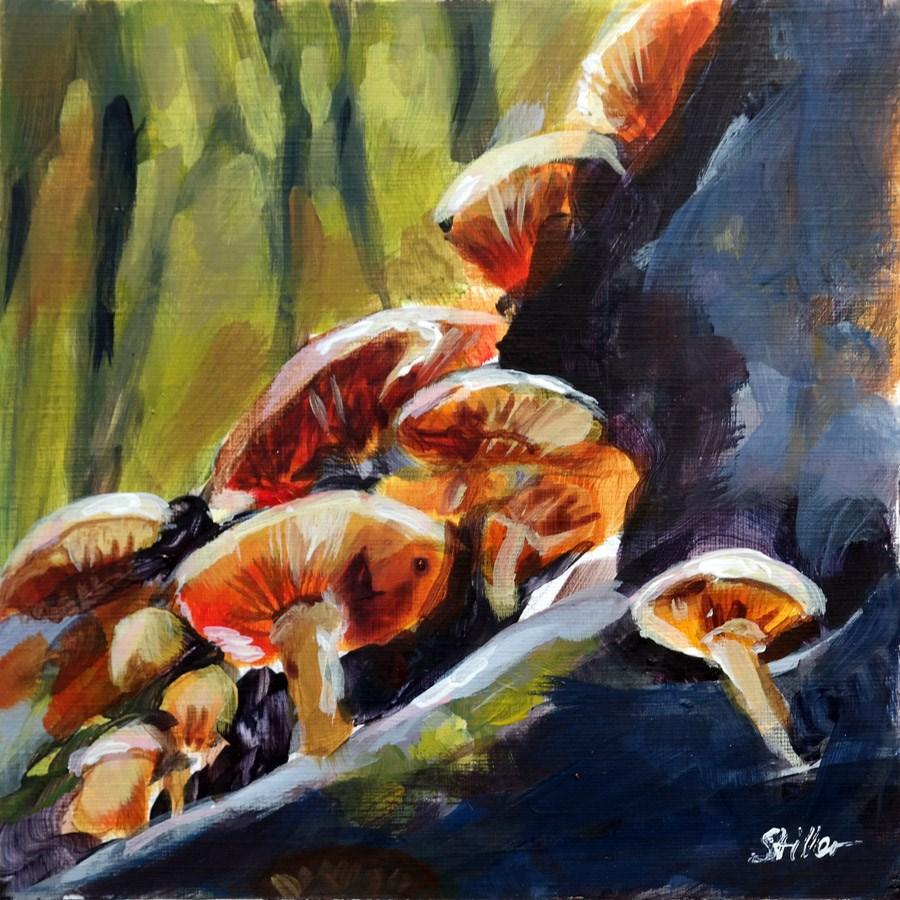 """""""1890 Mushroom Season 3"""" original fine art by Dietmar Stiller"""