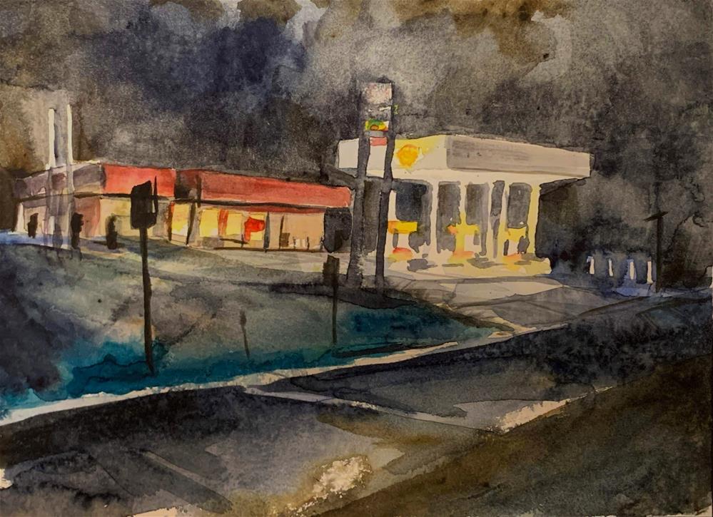"""""""Shell Station, Westcliffe, CO"""" original fine art by Jean Krueger"""
