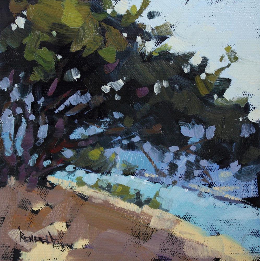 """Oaks on the Columbia River"" original fine art by Cathleen Rehfeld"
