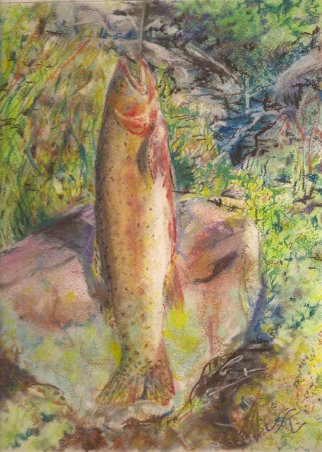 """Cutthroat Trout"" original fine art by Jean Krueger"