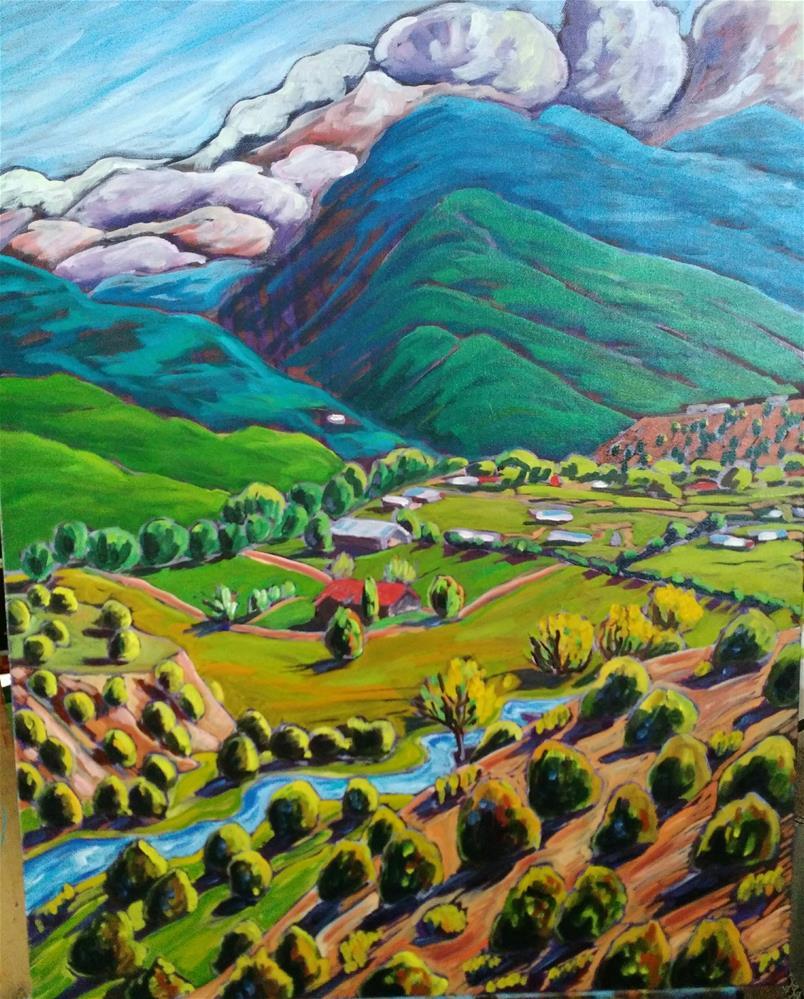 """""""Valdez Valley"""" original fine art by Robyn Wellman"""