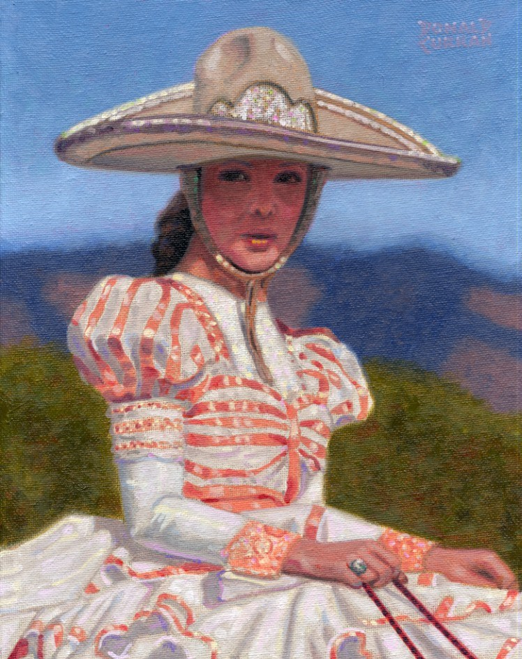 """Mexican Beauty"" original fine art by Donald Curran"