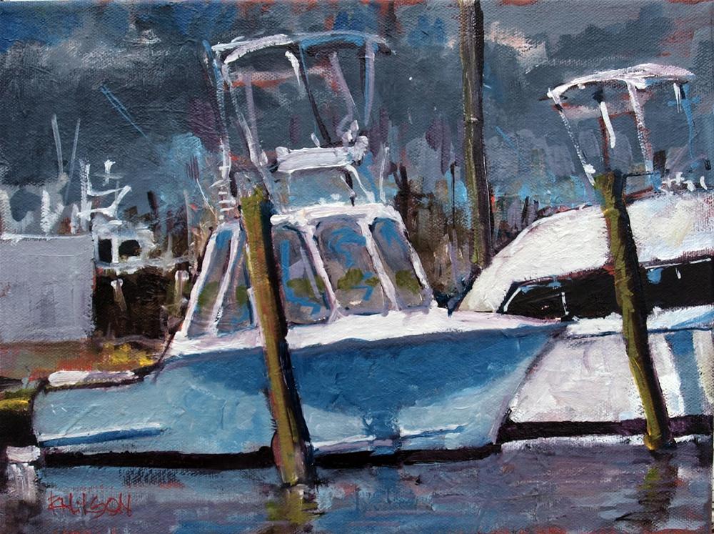 """Two Sportfishers"" original fine art by Rick Nilson"