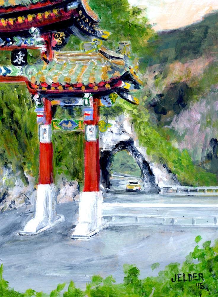 """Taroko Gorge"" original fine art by Judith Elder"