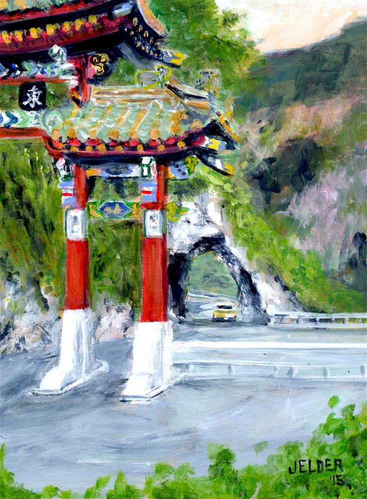"""Taroko Gorge"" original fine art by Judith Elder"