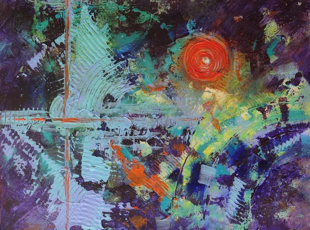 """5084 - Mounted - Sun I"" original fine art by Sea Dean"