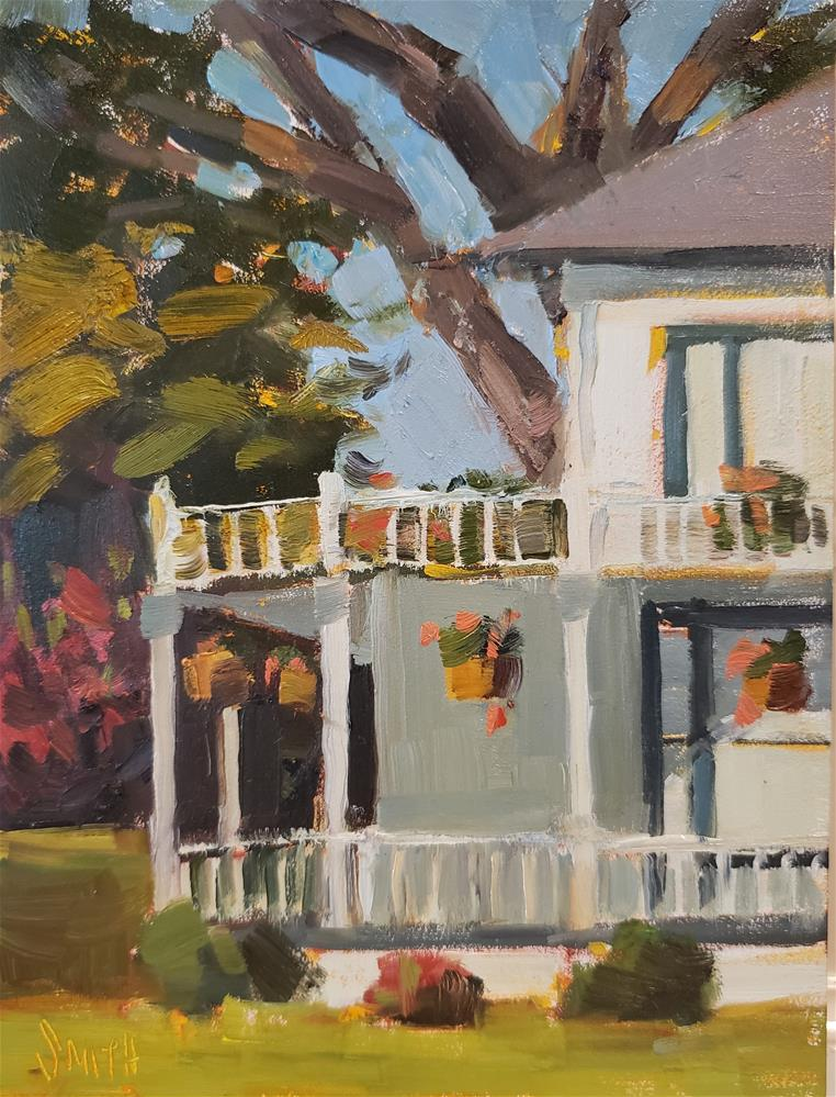 """Wrap Around Porch"" original fine art by Barbie Smith"
