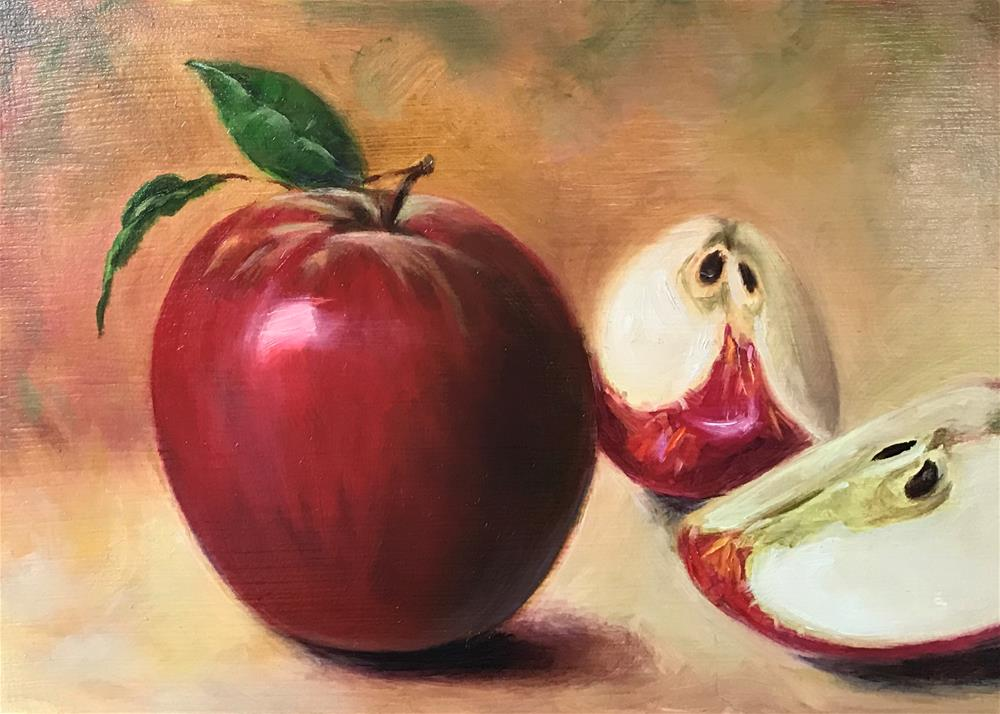 """Red Apple Study"" original fine art by Vana Meyers"