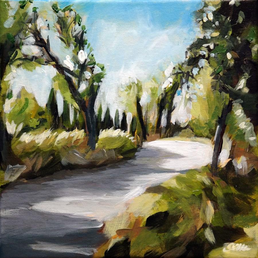 """1519 On the Road again"" original fine art by Dietmar Stiller"