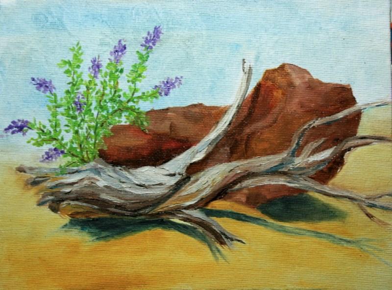 """""""High Desert Still Life - 1"""" original fine art by Jean Nelson"""