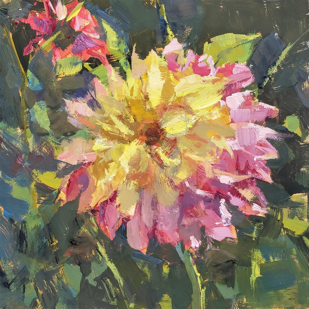 """""""Dahlias """" original fine art by Barbie Smith"""