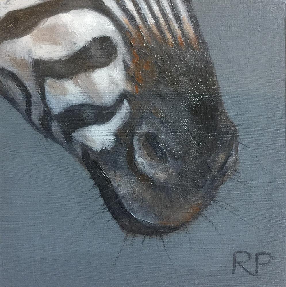 """Zebra study"" original fine art by Rhea  Groepper Pettit"