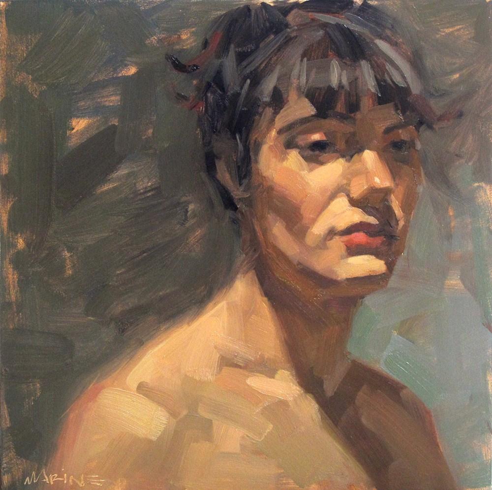 """Miranda, Bored"" original fine art by Carol Marine"