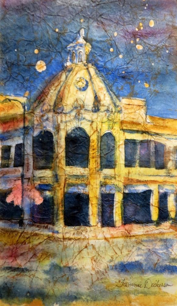 """""""Plaza After Hours"""" original fine art by Tammie Dickerson"""