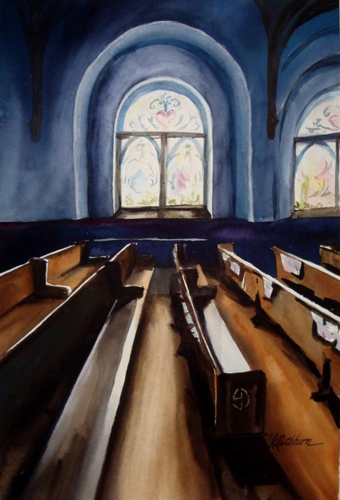 """The Sound of Silence"" original fine art by Kathy Los-Rathburn"