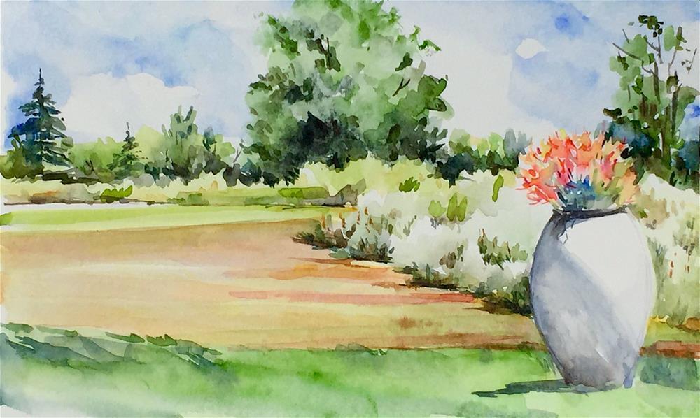 """Tower Hill, study #3"" original fine art by Judith Freeman Clark"