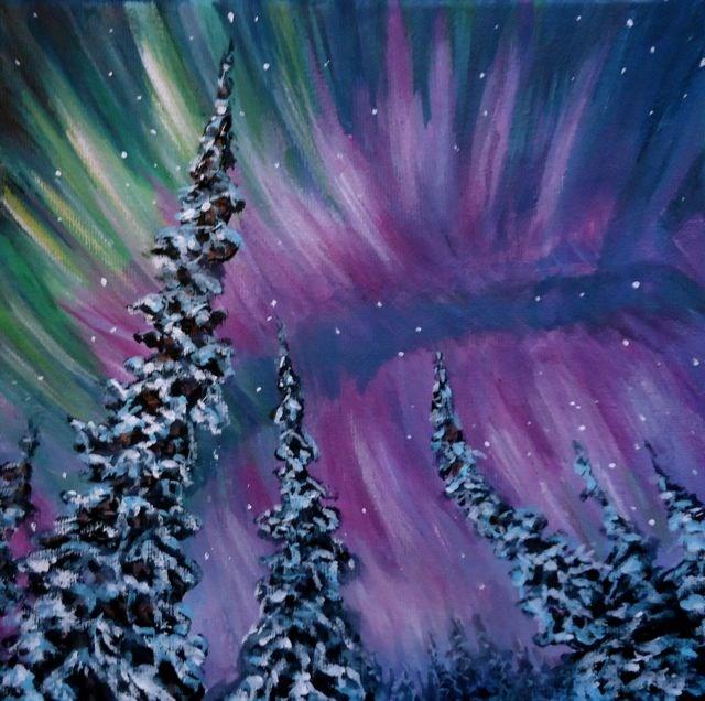 """""""Northern Wonder"""" original fine art by Jackie Irvine"""