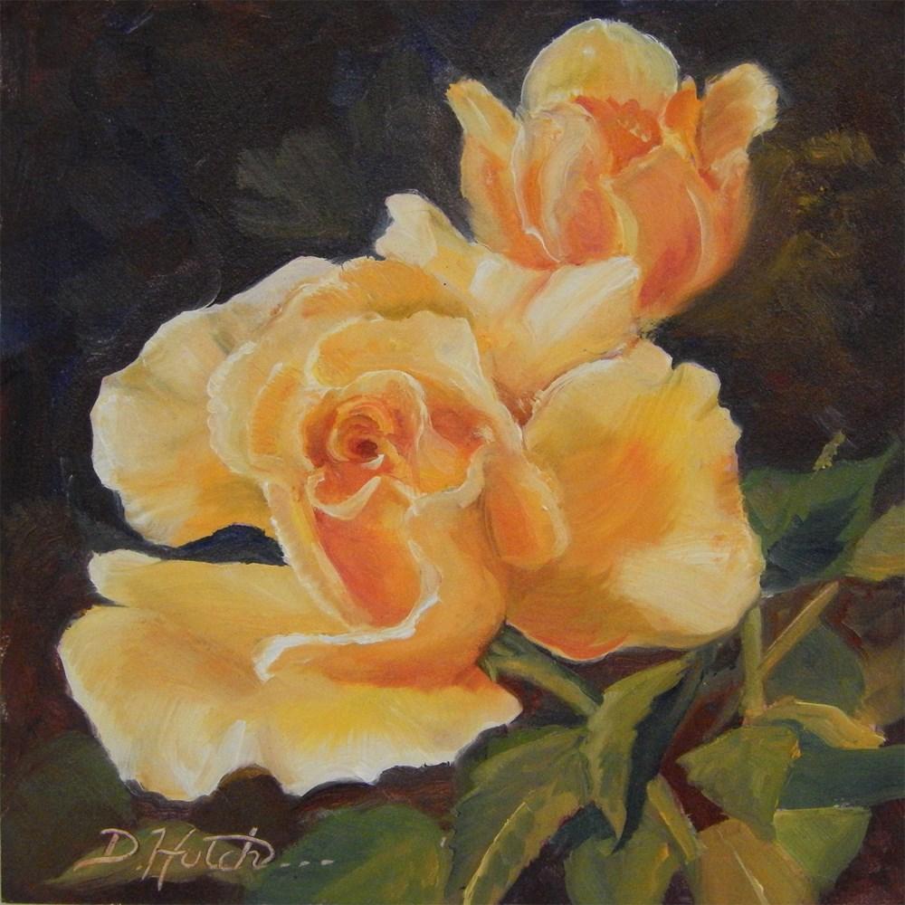 """Rose #2"" original fine art by Diane Hutchinson"