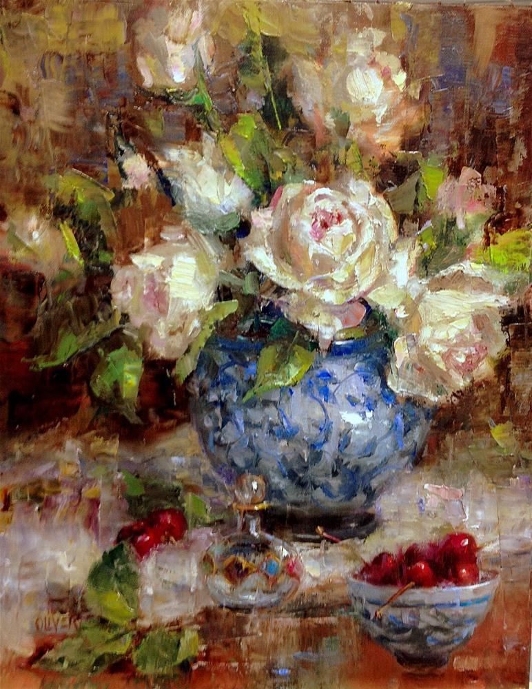 """""""Rose Bouquet"""" original fine art by Julie Ford Oliver"""