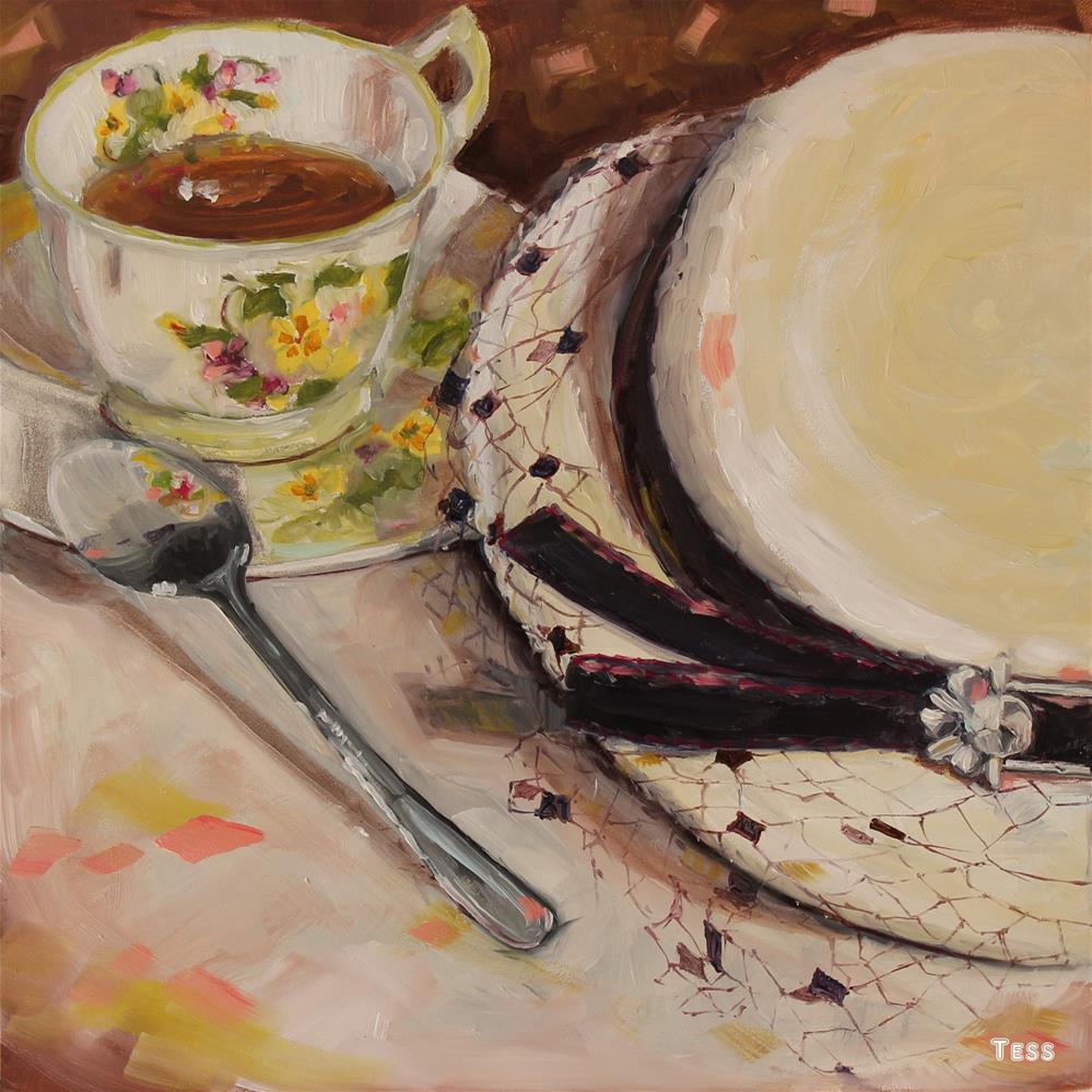 """Tuesday Afternoon- Moody Blues"" original fine art by Tess Lehman"