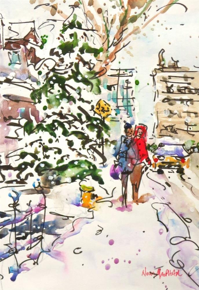 """snowy path"" original fine art by Nora MacPhail"