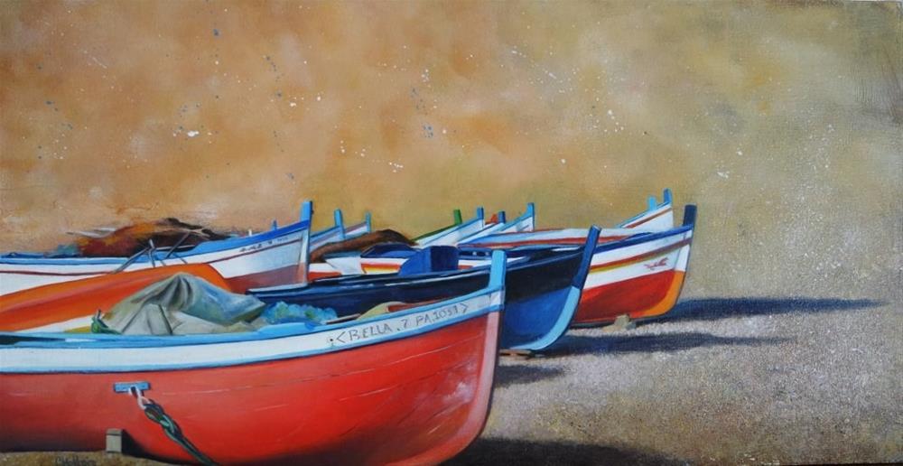 """Flotilla"" original fine art by Cathy Holtom"