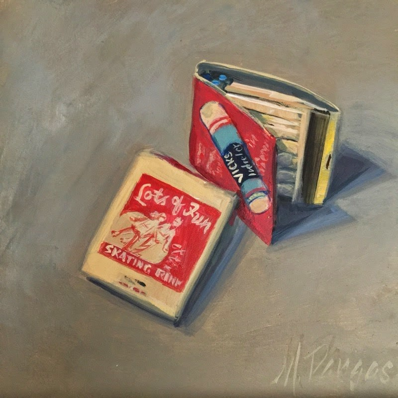 """""""Fun With Matches"""" original fine art by Mary Pargas"""
