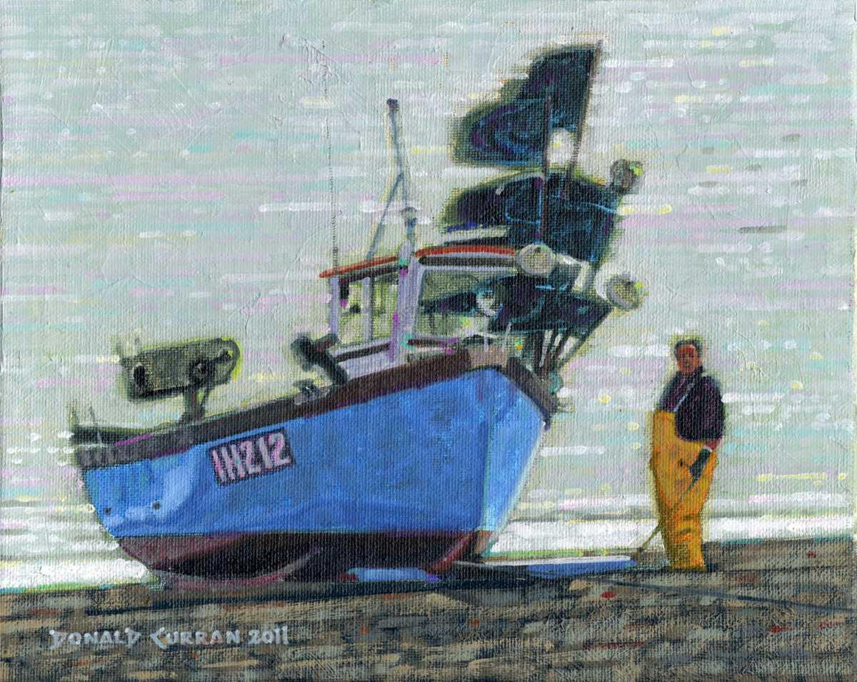 """""""A Few Repairs"""" original fine art by Donald Curran"""