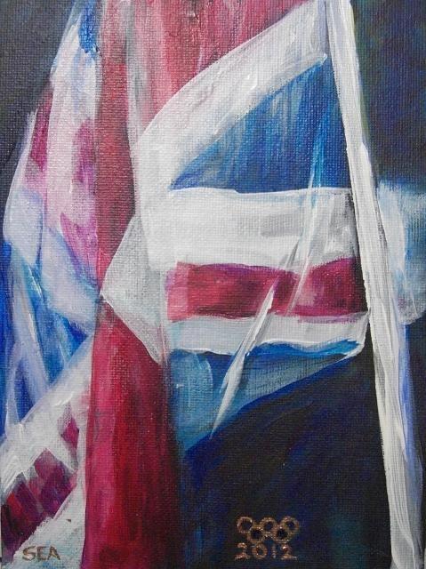 """2061 - UK FLag - Flags of the World Series"" original fine art by Sea Dean"