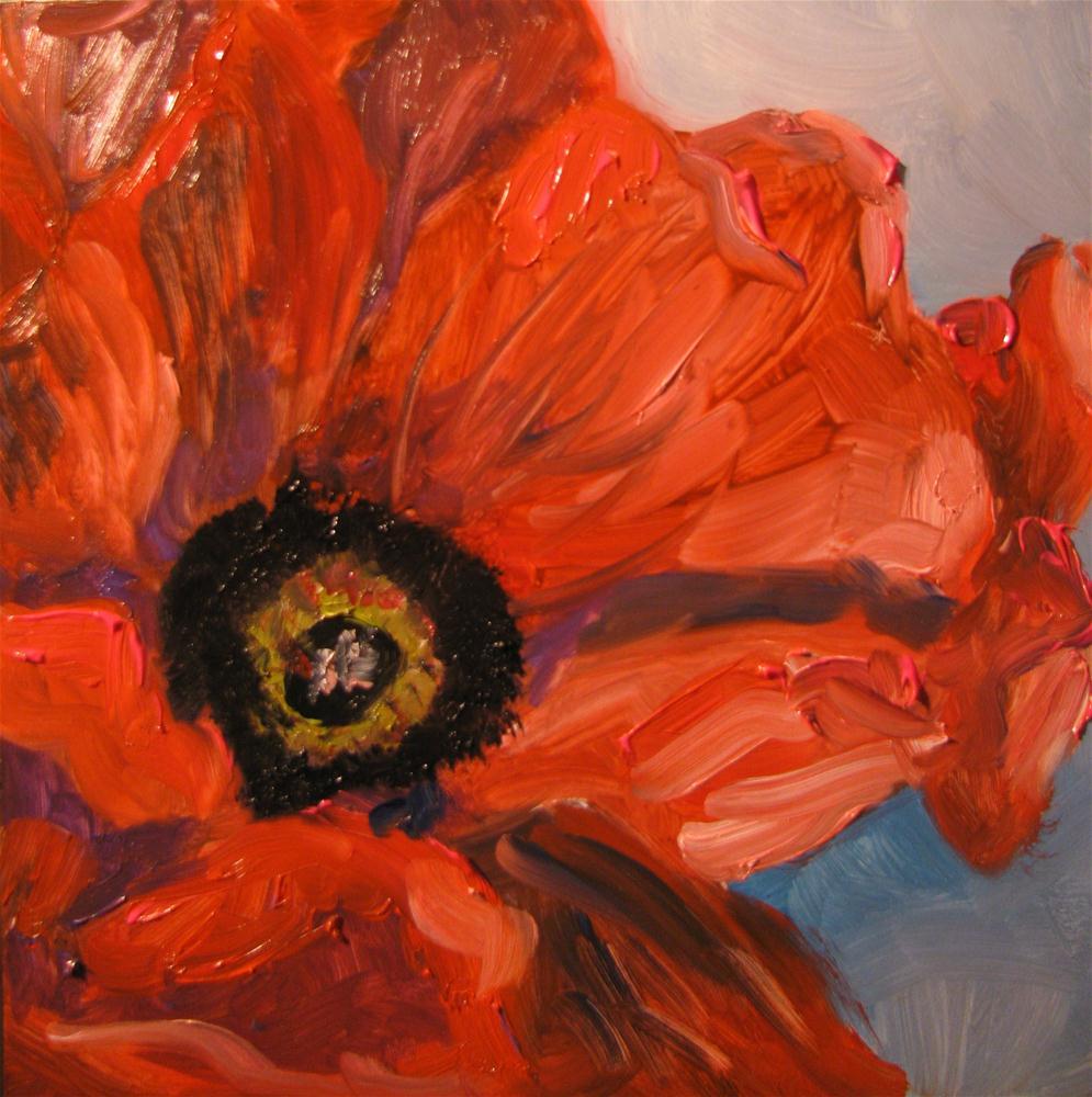 """Poppy  http://fineartamerica.com/featured/poppy-susan-jones.html"" original fine art by Susan Elizabeth Jones"