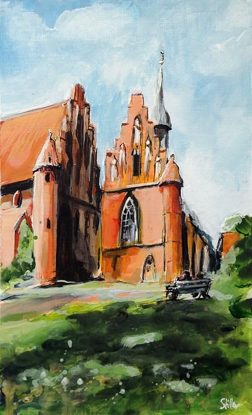"""""""2465 Wienhausen Monastery"""" original fine art by Dietmar Stiller"""