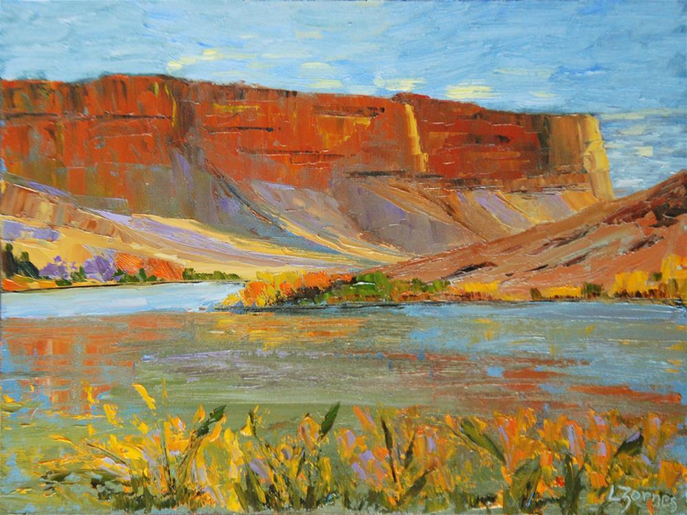"""Desert Cliffs"" original fine art by Liz Zornes"