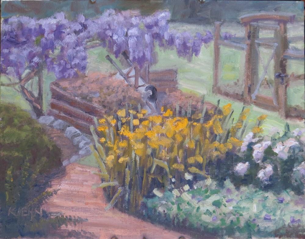 """""""Garden Path"""" original fine art by Richard Kiehn"""