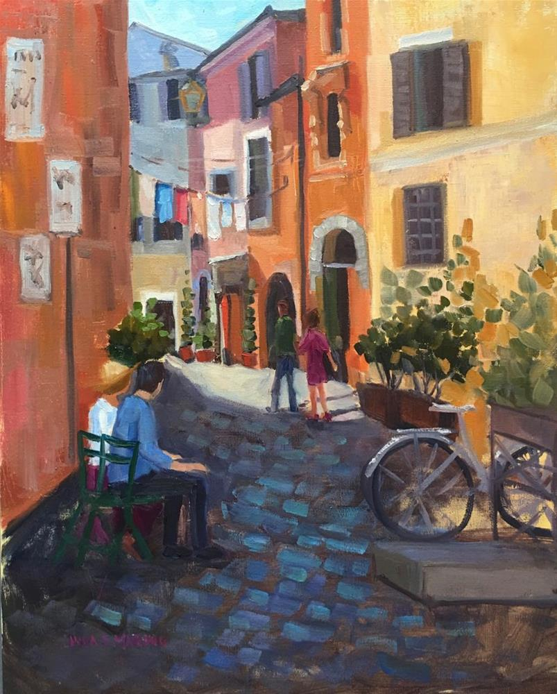 """Laundry Day in Rome"" original fine art by Linda Marino"