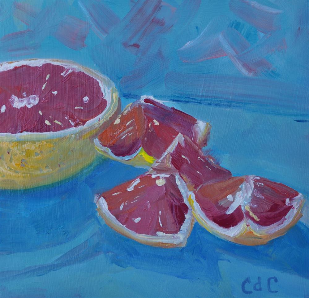 """Pink Grapefruit"" original fine art by Catherine Crookston"