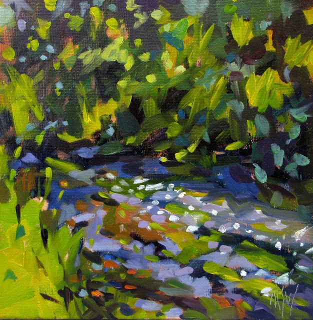 """Herring Run-painted on site. Fun capturing the colors of the landscape."" original fine art by Mary Sheehan Winn"
