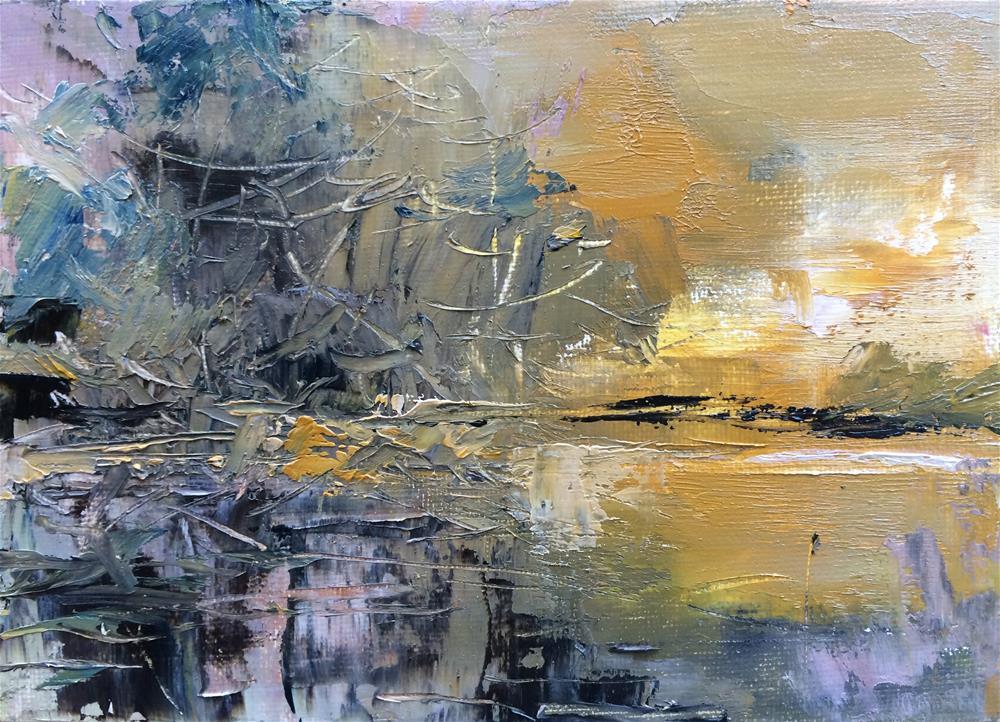 """Reflection"" original fine art by Anny Kong"
