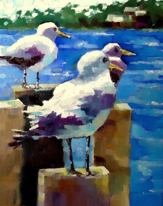 """Made Ya Look"" original fine art by Laurie Mueller"