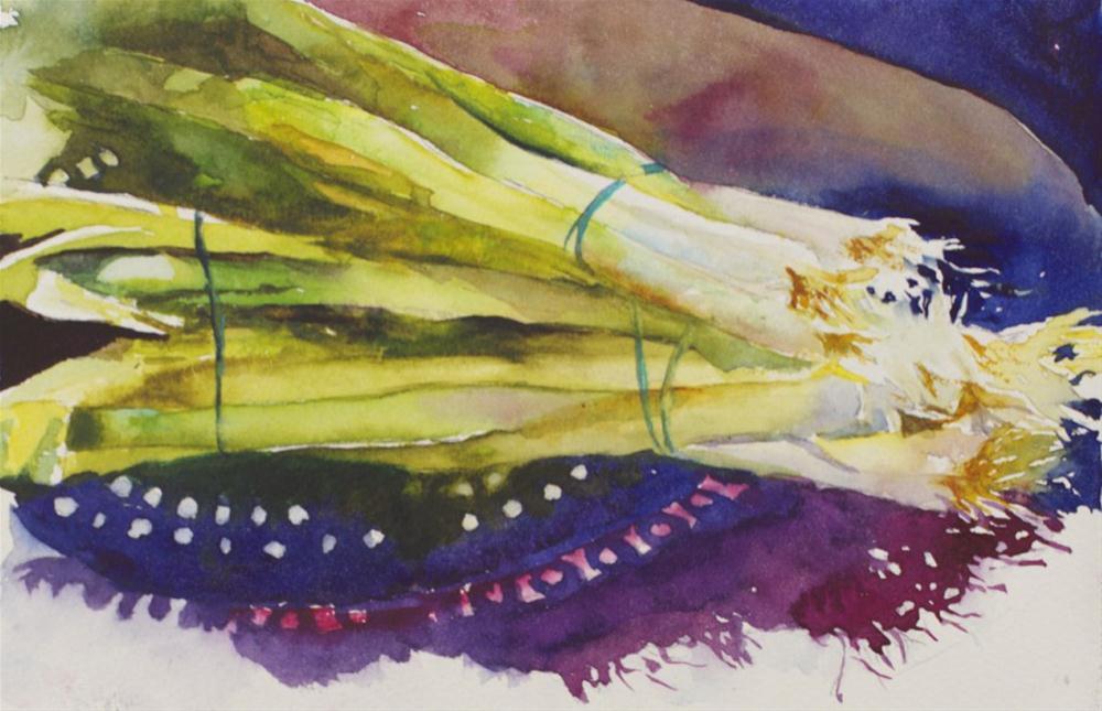 """""""Market Onions"""" original fine art by Sue Churchgrant"""