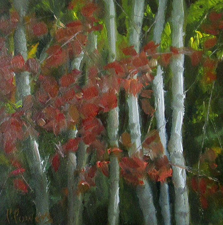"""""""Four Inches of Fall"""" original fine art by Patricia J. Powers"""