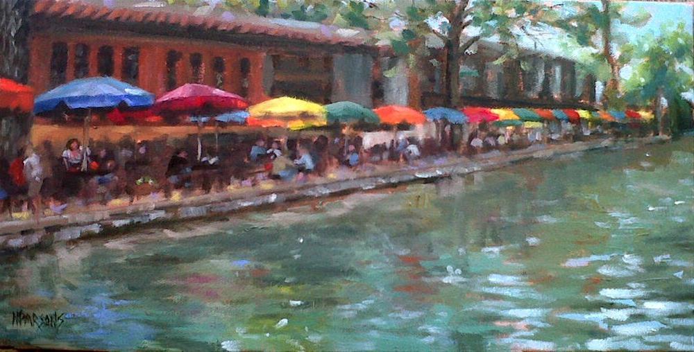 """River Walk San Antonio"" original fine art by Nancy Parsons"