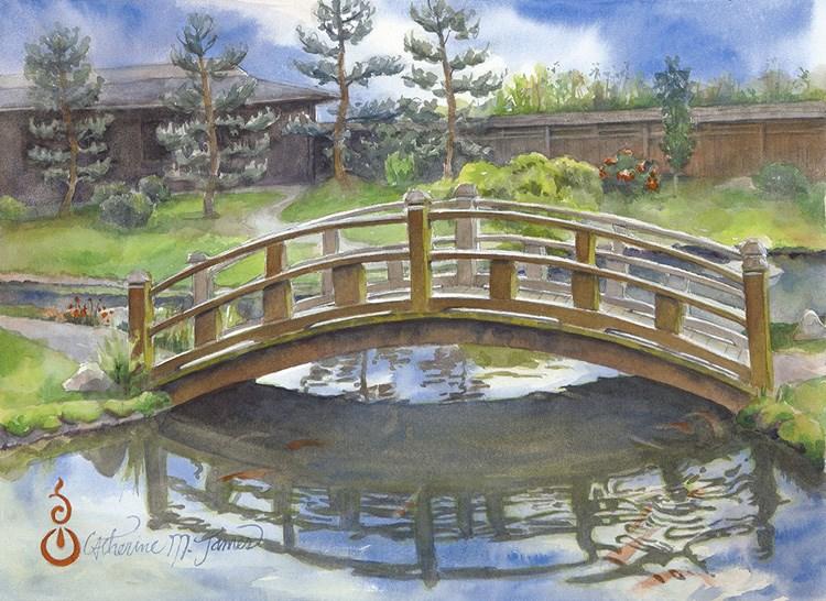 """Under the Bridge"" original fine art by Catherine M. James"