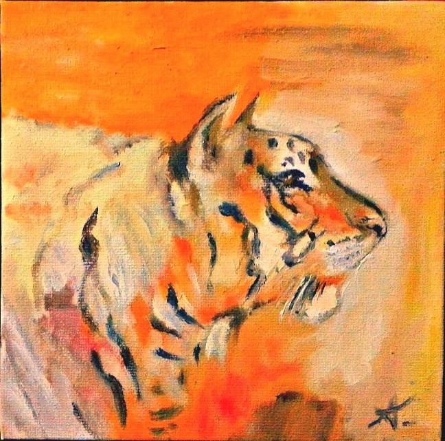 """Tiger"" original fine art by Konstantia Karletsa"