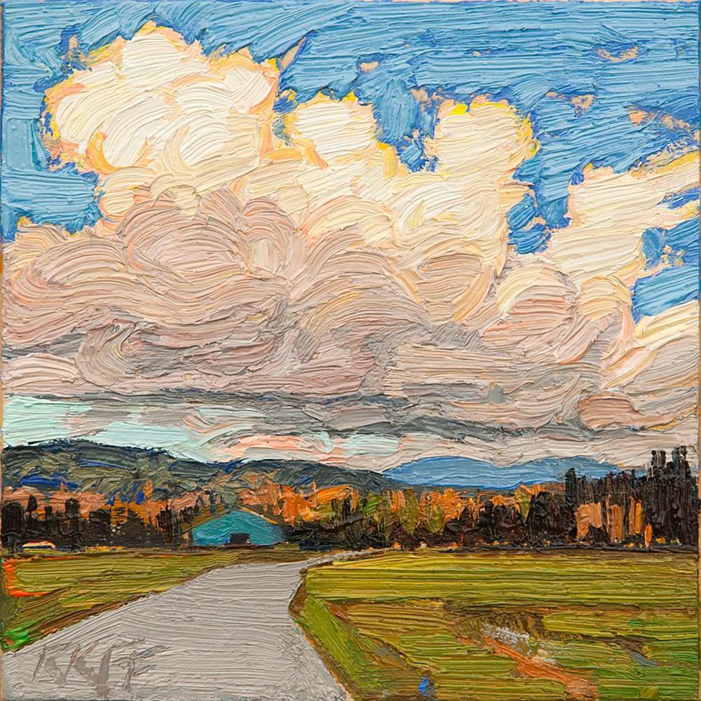 """Country Road: 6x6 oil on panel"" original fine art by Ken Faulks"