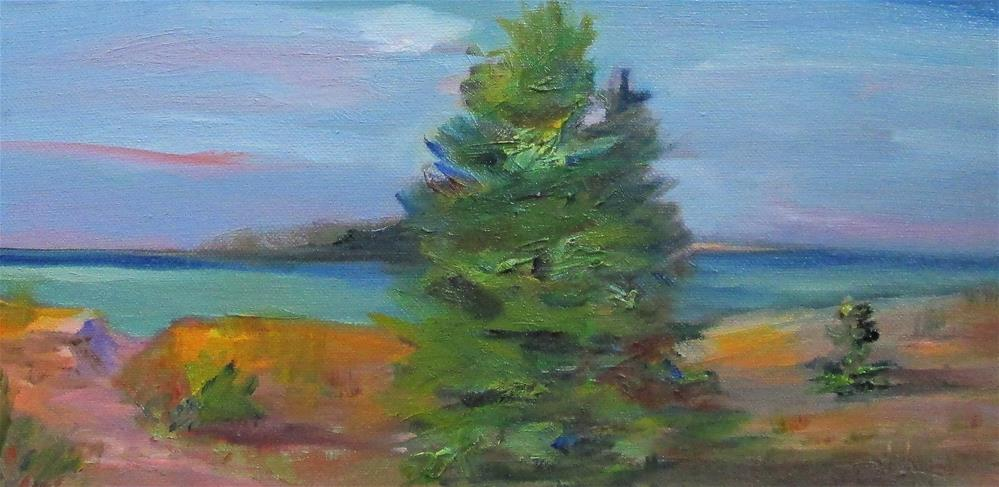 """Tree at the Lake"" original fine art by Delilah Smith"