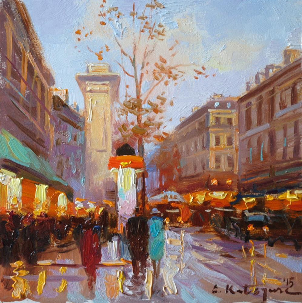 """Another Perfect Day in Paris"" original fine art by Elena Katsyura"