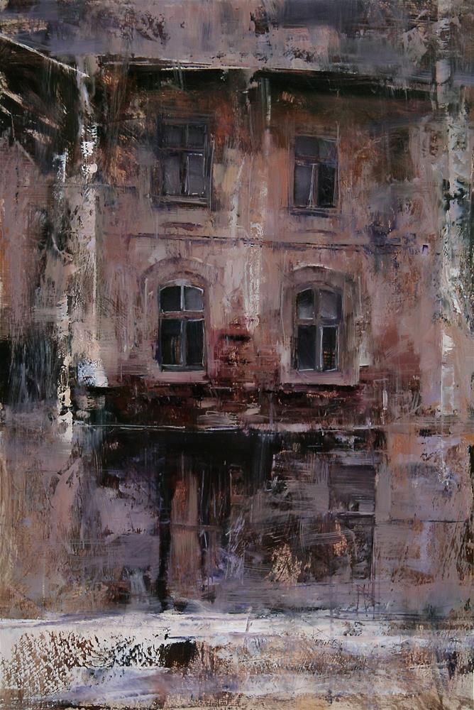 """""""The House"""" original fine art by Tibor Nagy"""