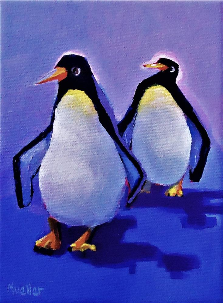 """""""You Seem Cool Today"""" original fine art by Laurie Mueller"""
