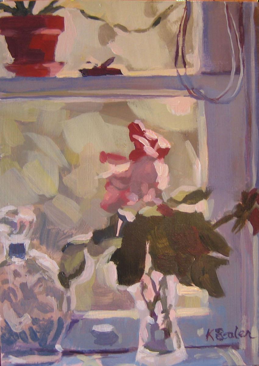 """The Window"" original fine art by Kaethe Bealer"