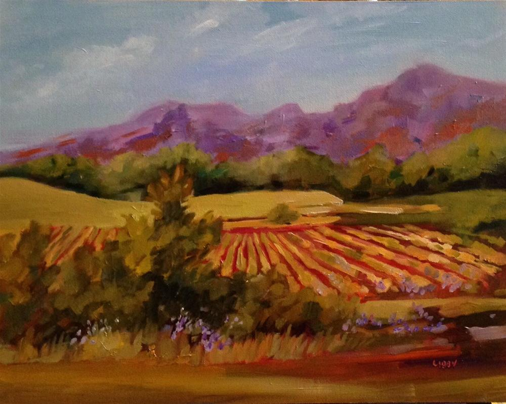 """""""In the Vineyard"""" original fine art by Libby Anderson"""